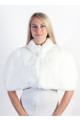 White Rex Fur Cape