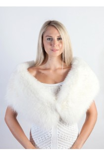 White Fox Fur Stole - Scarf