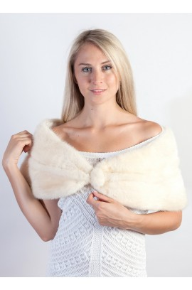 Cream Mink Fur Stole