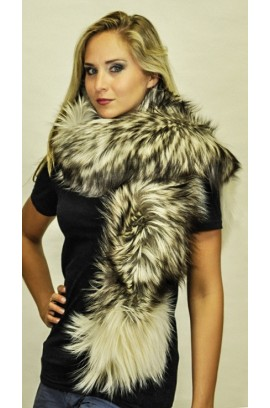 Arctic platinum fox fur scarf