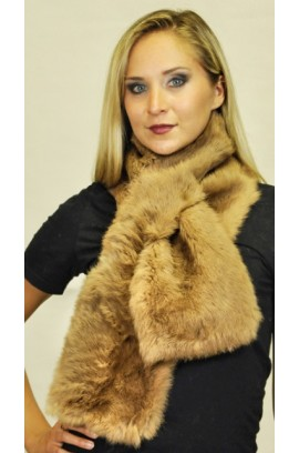 Brown rabbit fur scarf